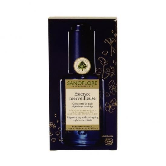 Sanoflore essence merveilleuse concentré de nuit régénérant anti-âge 30ml