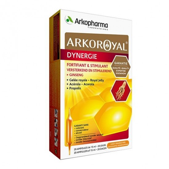 Arkoroyal dynergie bio complexe stimulant 20 ampoules