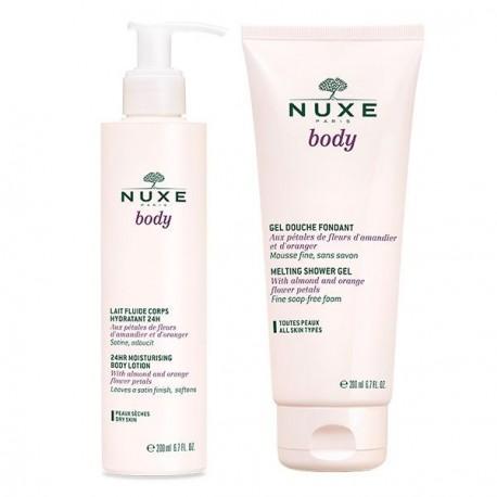 Nuxe body lait hydratant + gel douche