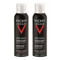 Vichy homme mousse de rasage anti-irritations 2x200ml