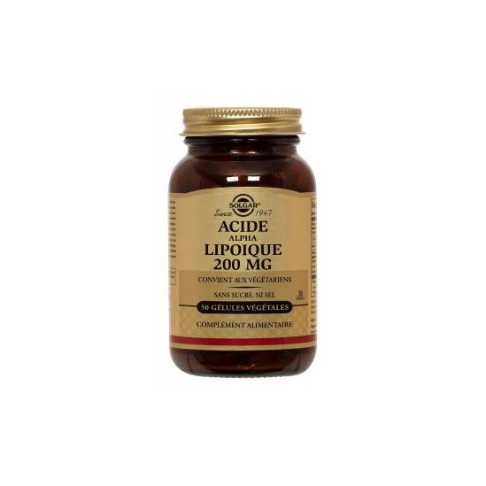 Solgar Acide alpha-lipoïque complément alimentaire 200mg 50 gélules