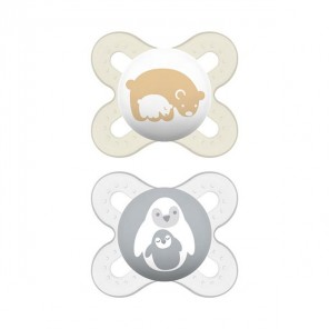 Mam naissance 2 sucettes silicone 0-2 mois