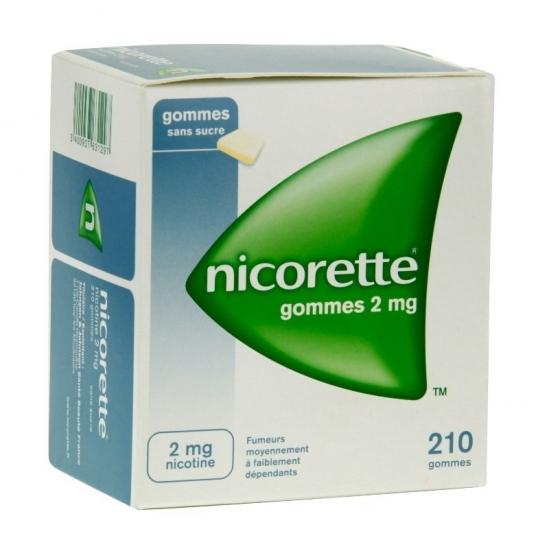 Nicorette 2mg Sans Sucre 210 Gommes à mâcher